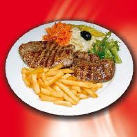 Lamm Steak Pommes / frise